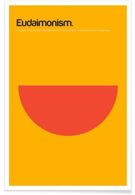 Eudaimonismus-Minimalistische Definition -Poster