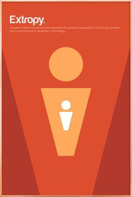 Extropy -Poster im Alurahmen