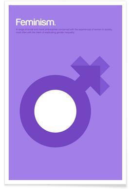 Féminisme - Definition minimaliste affiche
