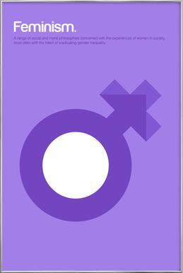 Feminism -Poster im Alurahmen