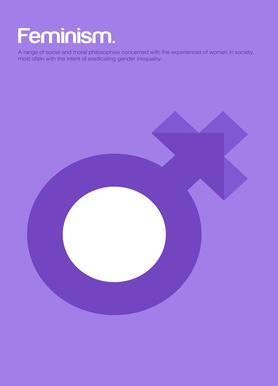 Feminism -Leinwandbild