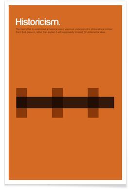 L'historicisme - Definition minimaliste Affiche