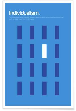 Individualisme - Definition minimaliste Affiche
