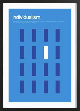 Individualism -Bild mit Holzrahmen