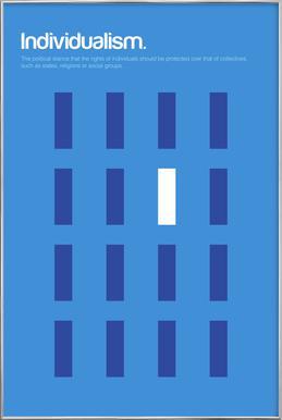 Individualism Poster in Aluminium Frame
