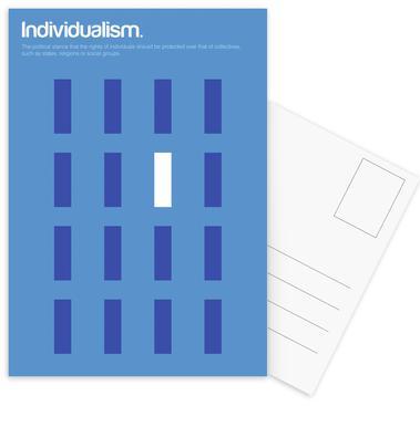 Individualism -Postkartenset