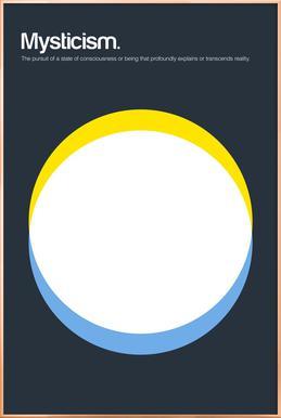 Mysticism Poster in Aluminium Frame
