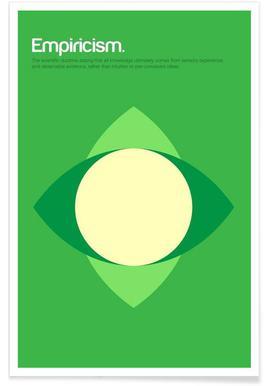 Empirismus-Minimalistische Definition -Poster