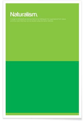 Naturalism - Minimalistic Definition Poster