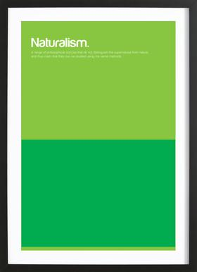Naturalism -Bild mit Holzrahmen