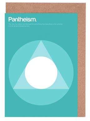 Pantheism -Grußkarten-Set