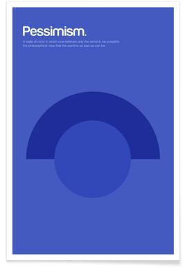 Pessimisme - Definition minimaliste affiche