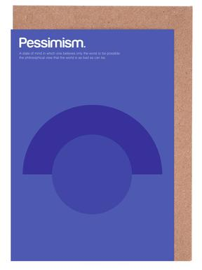 Pessimism -Grußkarten-Set