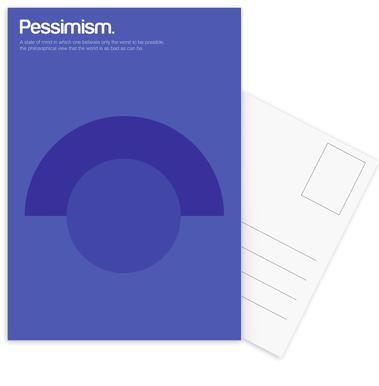 Pessimism -Postkartenset