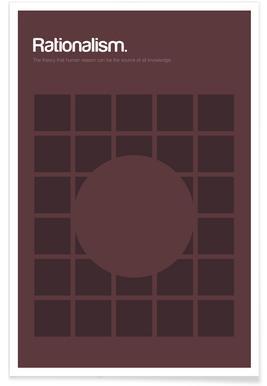 Rationnalisme - Definition minimaliste affiche