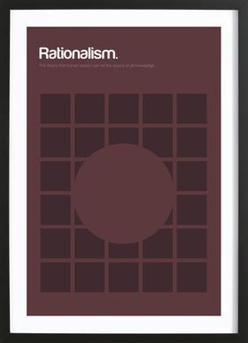 Rationalism -Bild mit Holzrahmen