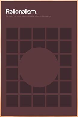 Rationalism -Poster im Alurahmen