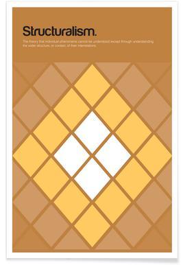 Structuralisme - Definition minimaliste affiche