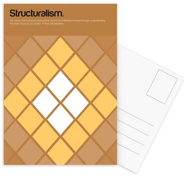 Structuralism Set de cartes postales