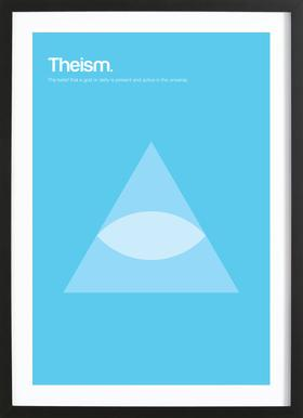 Theism Poster in Wooden Frame