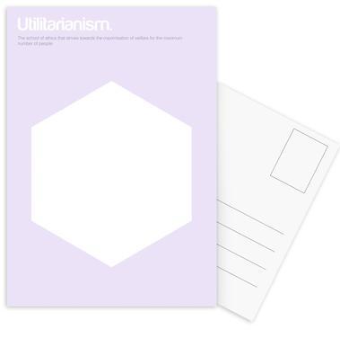 Utilitarianism cartes postales