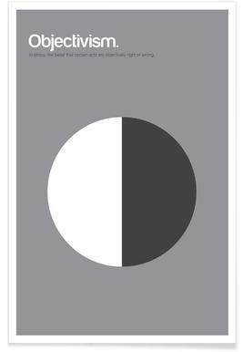 Objectivisme - minimalistische definitie poster