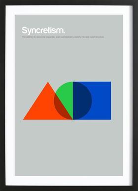 Syncretism ingelijste print