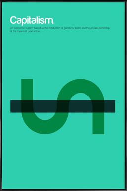 Capitalism Poster in Standard Frame