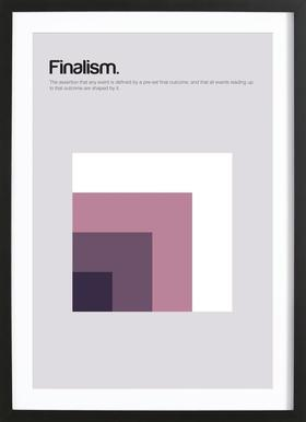 Finalism -Bild mit Holzrahmen