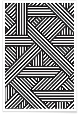 B&W Lines Poster