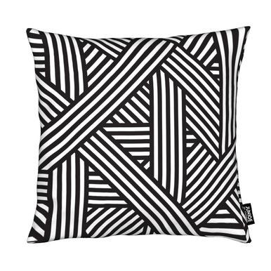 B&W Lines Cushion