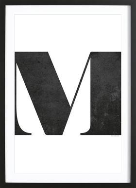 M Poster in Wooden Frame