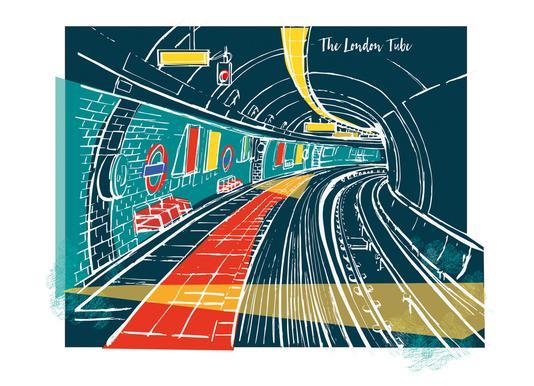 London Underground Impression sur toile