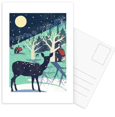 Deer ansichtkaartenset