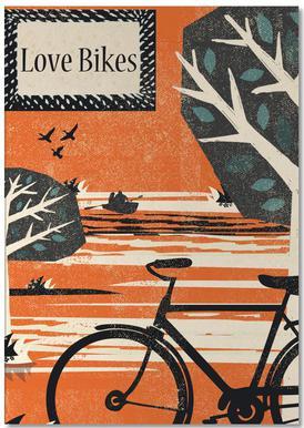 Love Bikes Notepad