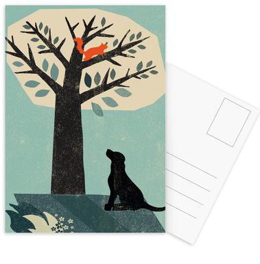 Dog and Squirrel ansichtkaartenset