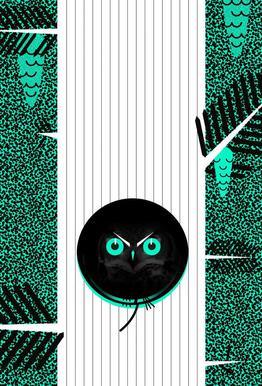 Polka Dot Owl -Alubild