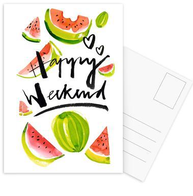 Happy Weekend ansichtkaartenset