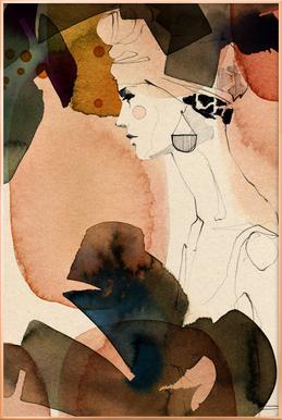 Mora -Poster im Alurahmen