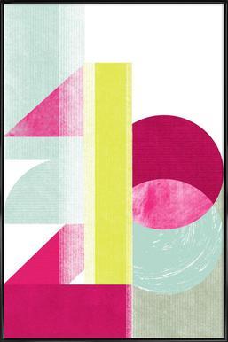 1,2,3 Poster in Standard Frame