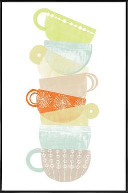 Cappuccino affiche encadrée