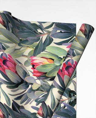 Painted Protea Pattern Gift Wrap