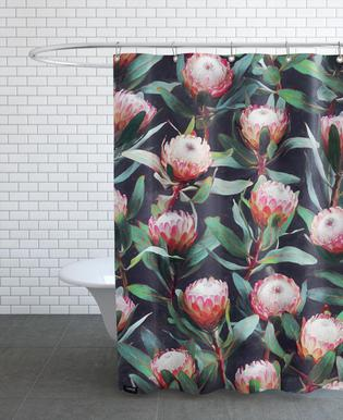 Evening Proteas in Color Shower Curtain