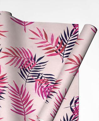 Pink Palm Pattern Papier cadeau