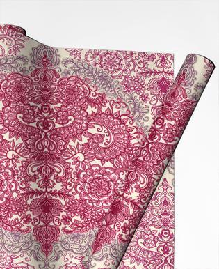 Happy Place Doodle in Pink som Badrumshandduk  ad0b38e75442c