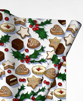 Christmas Treats And Cookies Gift Wrap
