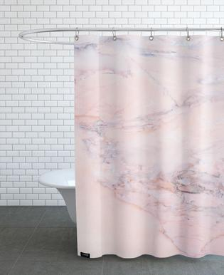 Blush Marble As Shower Curtain By Cafelab