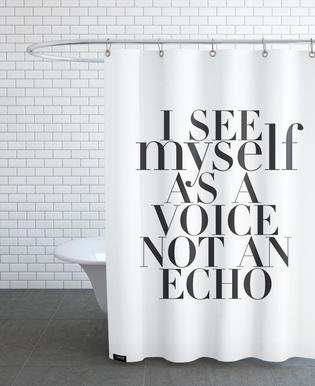 Echo As Shower Curtain By Myself