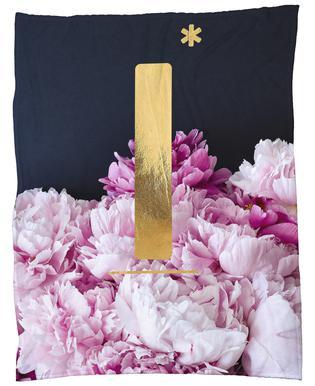 Flower Alphabet I Fleece Blanket