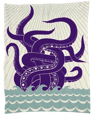 Sea Monster Fleece Blanket